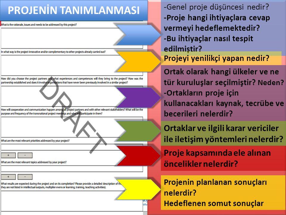 PROJENİN TANIMLANMASI -Genel proje düşüncesi nedir.