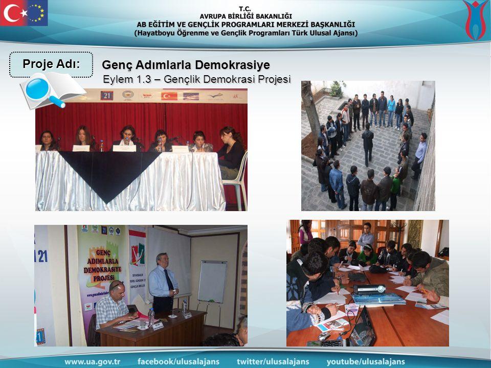 Genç Adımlarla Demokrasiye Eylem 1.3 – Gençlik Demokrasi Projesi Proje Adı: