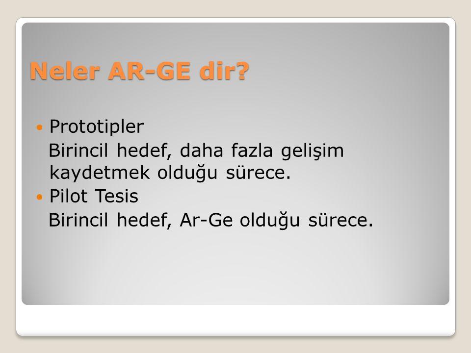 Neler AR-GE dir. Prototipler Birincil hedef, daha fazla gelişim kaydetmek olduğu sürece.