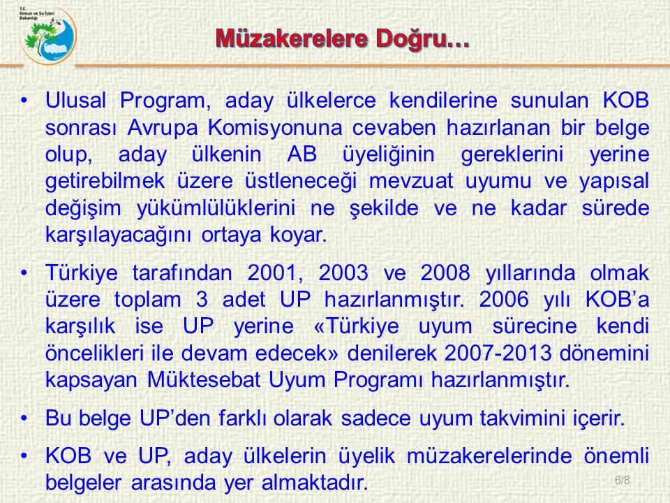 7/8 16-17 Aralık 2004 Brüksel Zirvesi'nde; 3 Ekim 2005 tarihinde Türkiye ile üyelik müzakerelerine başlanacağı kararı verilmiştir.