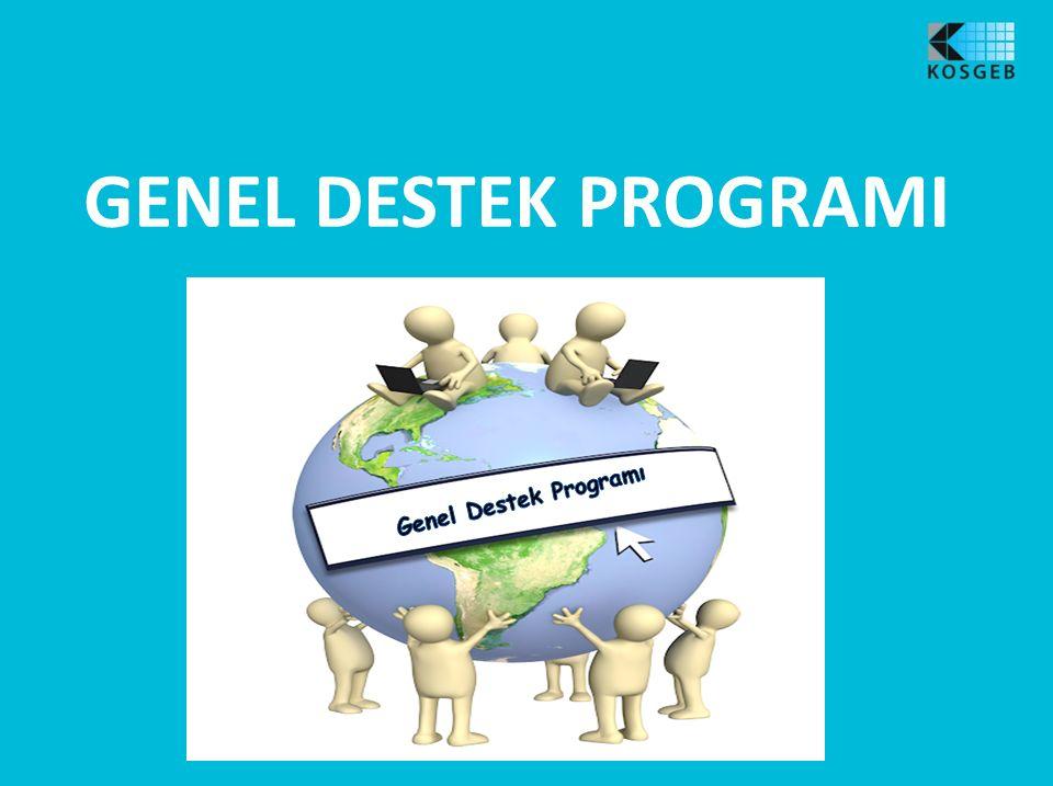 Genel Destek Program ı KOBİ'lere yönelik genel i ş letme geli ş tirme destekleri sa ğ lanarak rekabet gücünü art ı r ı c ı bireysel faaliyetlerin desteklenmesi.
