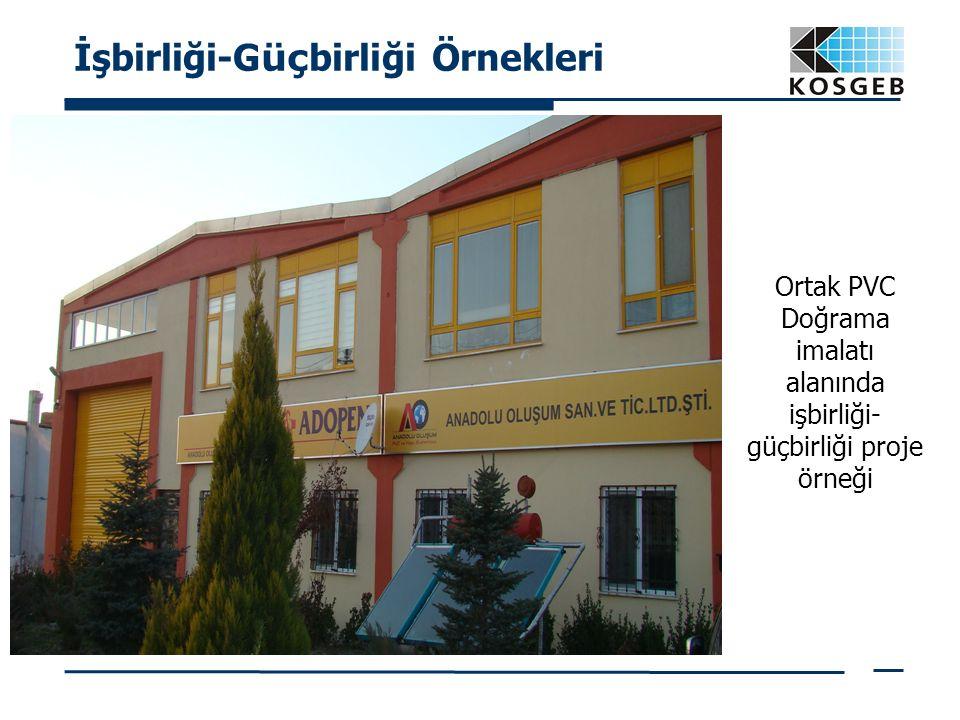İşbirliği-G üç birliği Örnekleri Ortak PVC Doğrama imalatı alanında işbirliği- güçbirliği proje örneği
