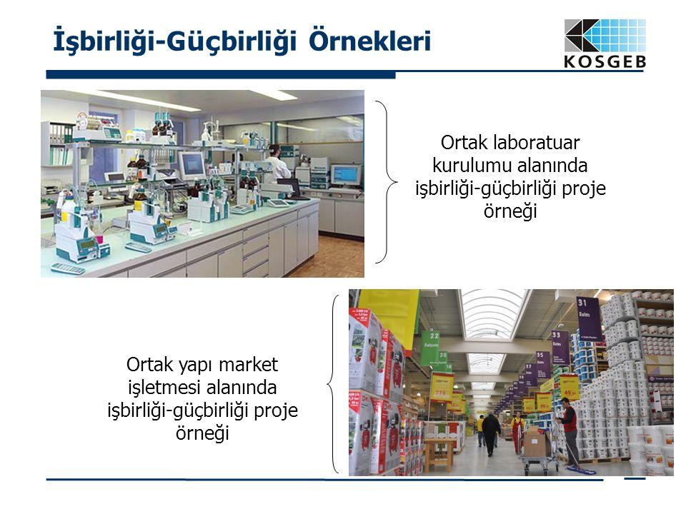 İşbirliği-G üç birliği Örnekleri Ortak laboratuar kurulumu alanında işbirliği-güçbirliği proje örneği Ortak yapı market işletmesi alanında işbirliği-g