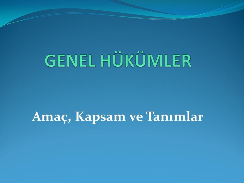 Amaç ve kapsam Bu Kanunun amacı; kamuda hesap verme sorumluluğu ve mali saydamlık esasları çerçevesinde, kamu idarelerinin etkili, ekonomik, verimli ve hukuka uygun olarak çalışması ve kamu kaynaklarının öngörülen amaç, hedef, kanunlar ve diğer hukuki düzenlemelere uygun olarak elde edilmesi, muhafaza edilmesi ve kullanılması için Türkiye Büyük Millet Meclisi adına yapılacak denetimleri, sorumluların hesap ve işlemlerinin kesin hükme bağlanmasını ve kanunlarla verilen inceleme, denetleme ve hükme bağlama işlerini yapmak üzere Sayıştayın kuruluşunu, işleyişini, denetim ve hesap yargılaması usullerini, mensuplarının niteliklerini ve atanmalarını, ödev ve yetkilerini, haklarını ve yükümlülüklerini ve diğer özlük işlerini, Başkan ve üyelerinin seçim ve teminatını düzenlemektir.