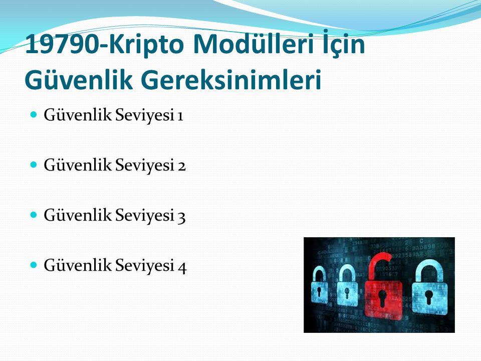 19790-Kripto Modülleri İçin Güvenlik Gereksinimleri Güvenlik Seviyesi 1 Güvenlik Seviyesi 2 Güvenlik Seviyesi 3 Güvenlik Seviyesi 4