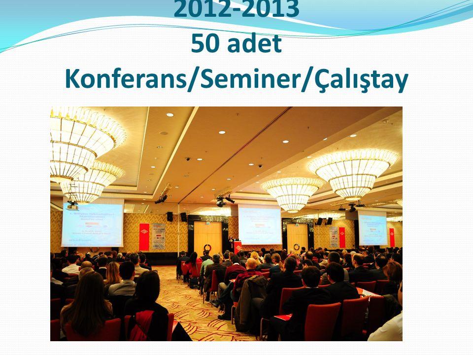 2012-2013 50 adet Konferans/Seminer/Çalıştay
