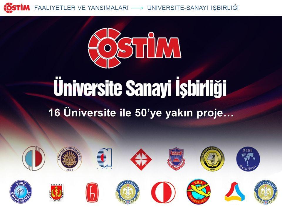 16 Üniversite ile 50'ye yakın proje… FAALİYETLER VE YANSIMALARIÜNİVERSİTE-SANAYİ İŞBİRLİĞİ