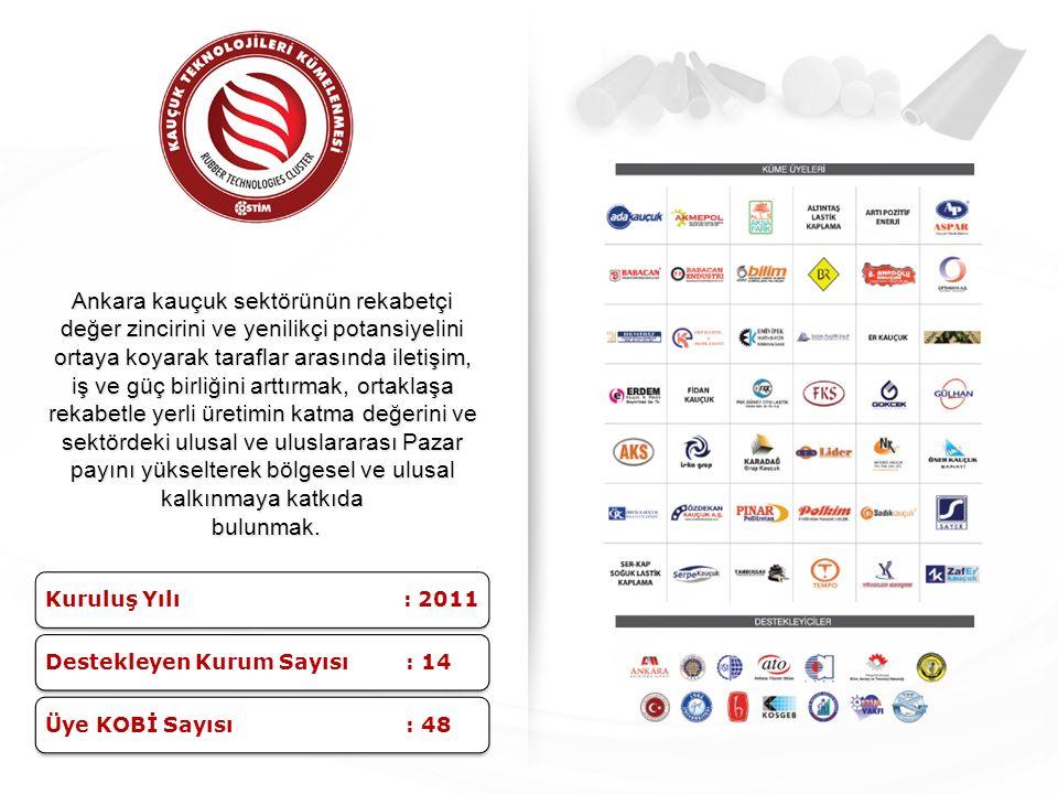 Ankara kauçuk sektörünün rekabetçi değer zincirini ve yenilikçi potansiyelini ortaya koyarak taraflar arasında iletişim, iş ve güç birliğini arttırmak
