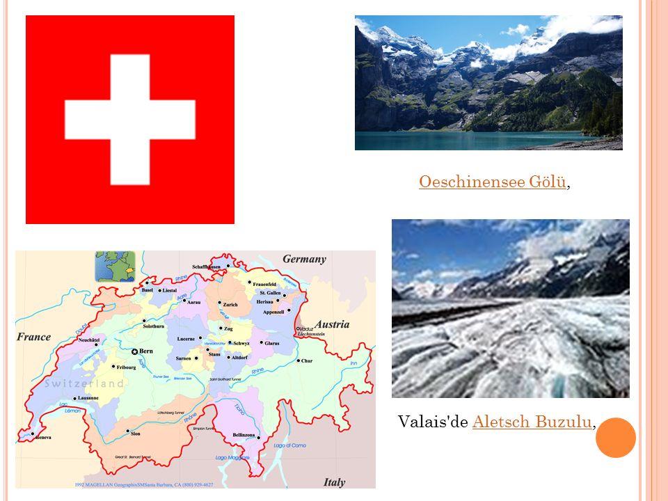 Oeschinensee GölüOeschinensee Gölü, Valais'de Aletsch Buzulu,Aletsch Buzulu