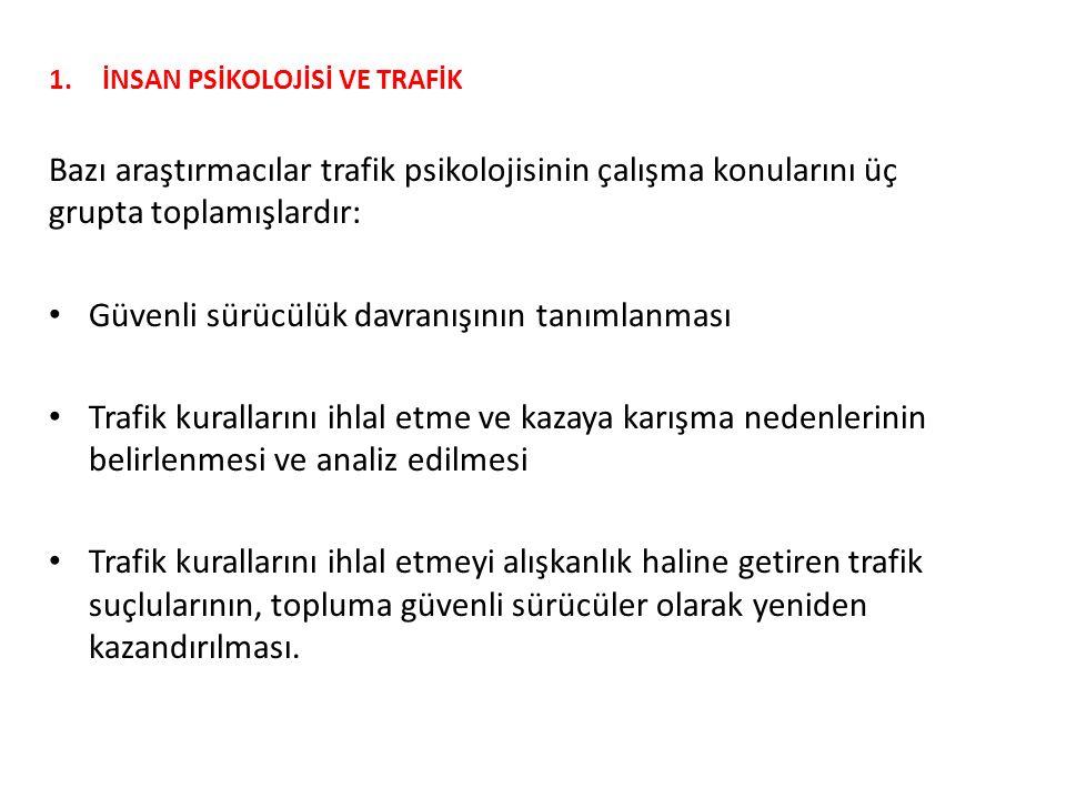 1.İNSAN PSİKOLOJİSİ VE TRAFİK 1.2.Ölçme Değerlendirme Çalışması 7.