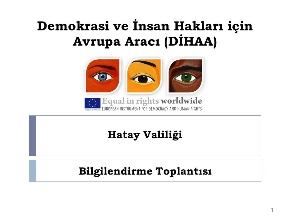 Demokrasi ve İnsan Hakları için Avrupa Aracı (DİHAA) Hatay Valiliği 1 Bilgilendirme Toplantısı