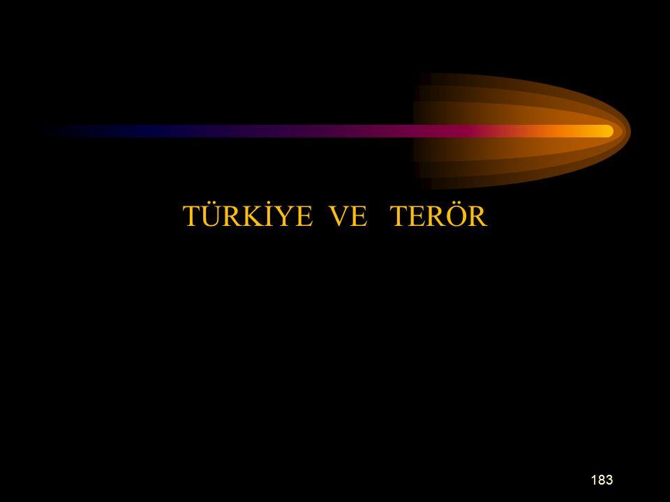 TÜRKİYE VE TERÖR 183