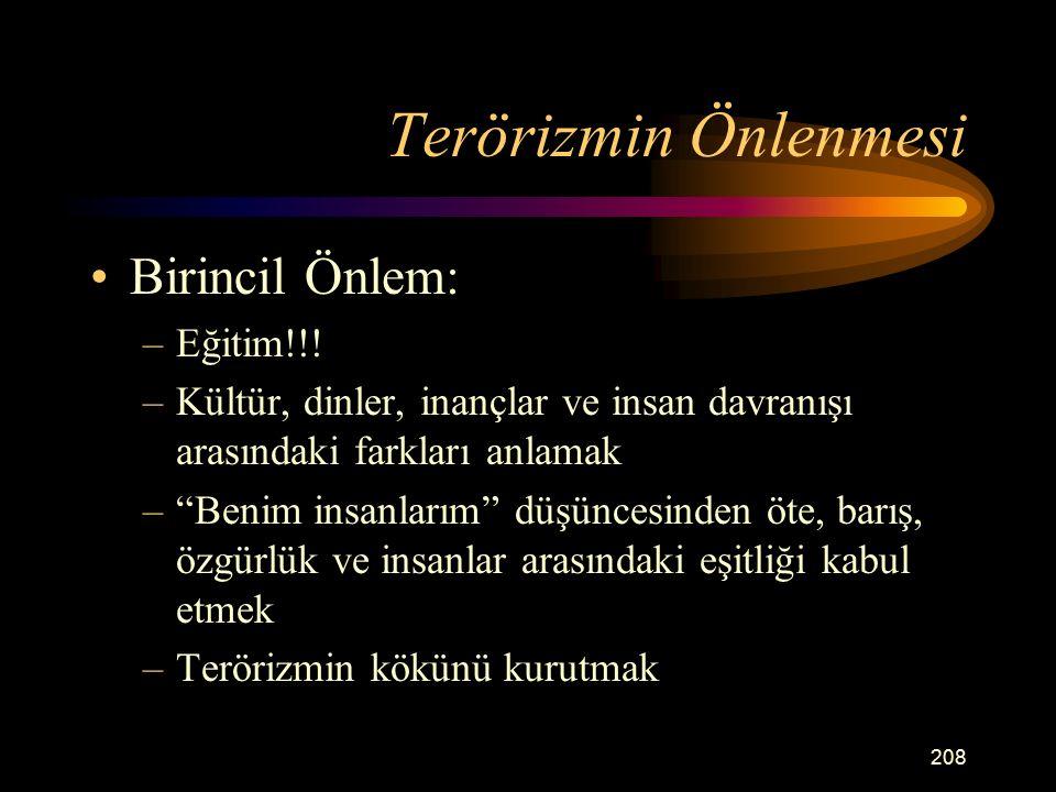 Terörizmin Önlenmesi Birincil Önlem: –Eğitim!!.