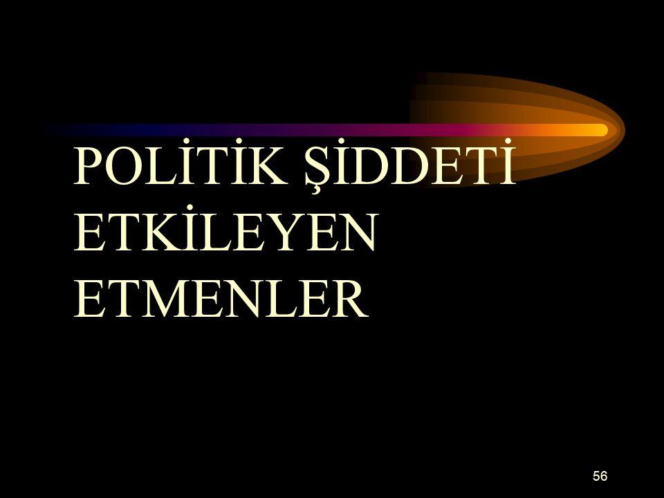56 POLİTİK ŞİDDETİ ETKİLEYEN ETMENLER
