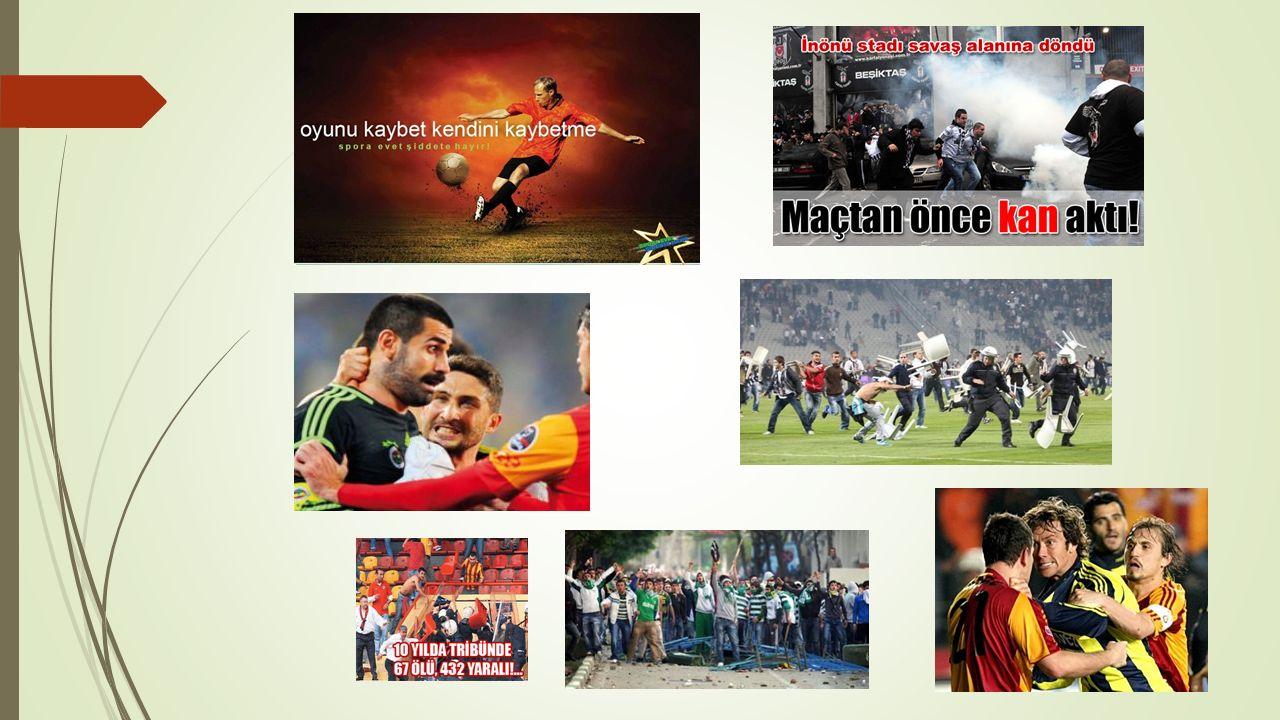 Ülkemizde futbol sahalarında görülen şiddetin başlıca sebepleri;  3- Mafyanın Etkisi Ekonomik faaliyetlerin yoğun olduğu diğer sektörlerde olduğu gibi mafya, ülkemizde para ve güç göstergesi olan futbola da el atmıştır.