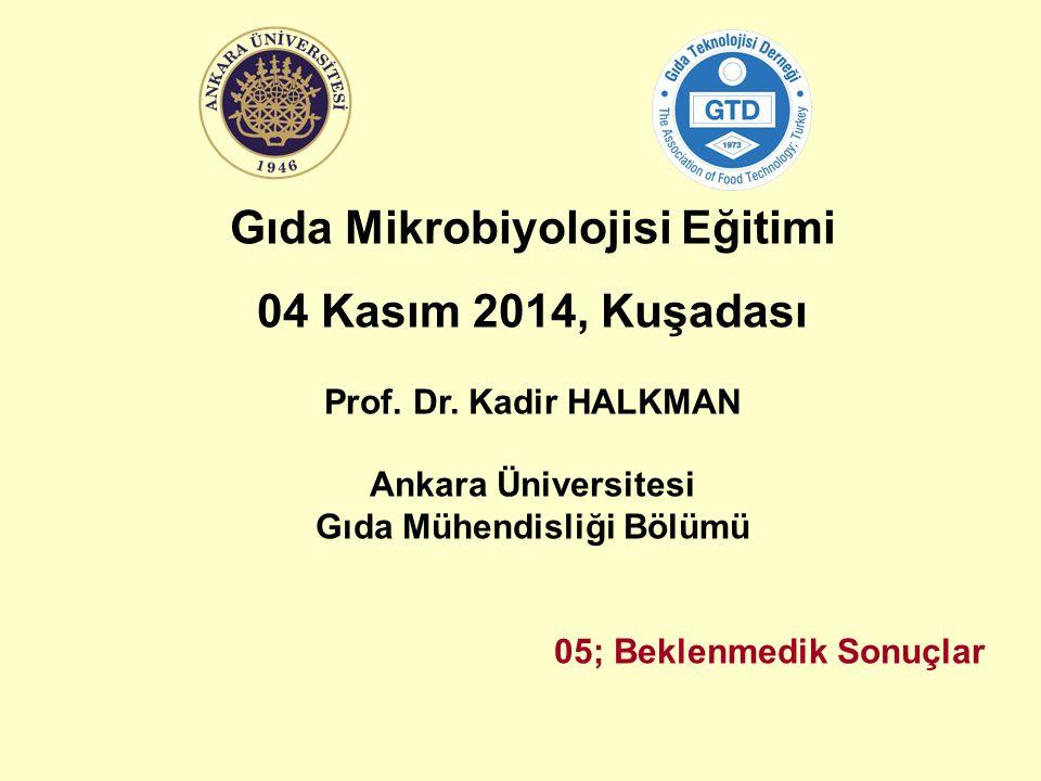 Gıda Mikrobiyolojisi Eğitimi 04 Kasım 2014, Kuşadası Prof.