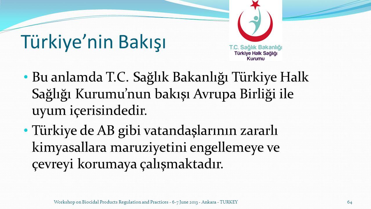 Türkiye'nin Bakışı Bu anlamda T.C. Sağlık Bakanlığı Türkiye Halk Sağlığı Kurumu'nun bakışı Avrupa Birliği ile uyum içerisindedir. Türkiye de AB gibi v