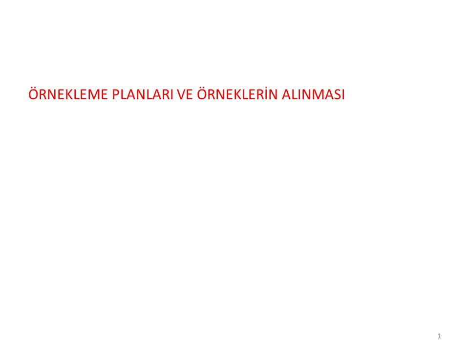 ÖRNEKLEME PLANLARI VE ÖRNEKLERİN ALINMASI 1