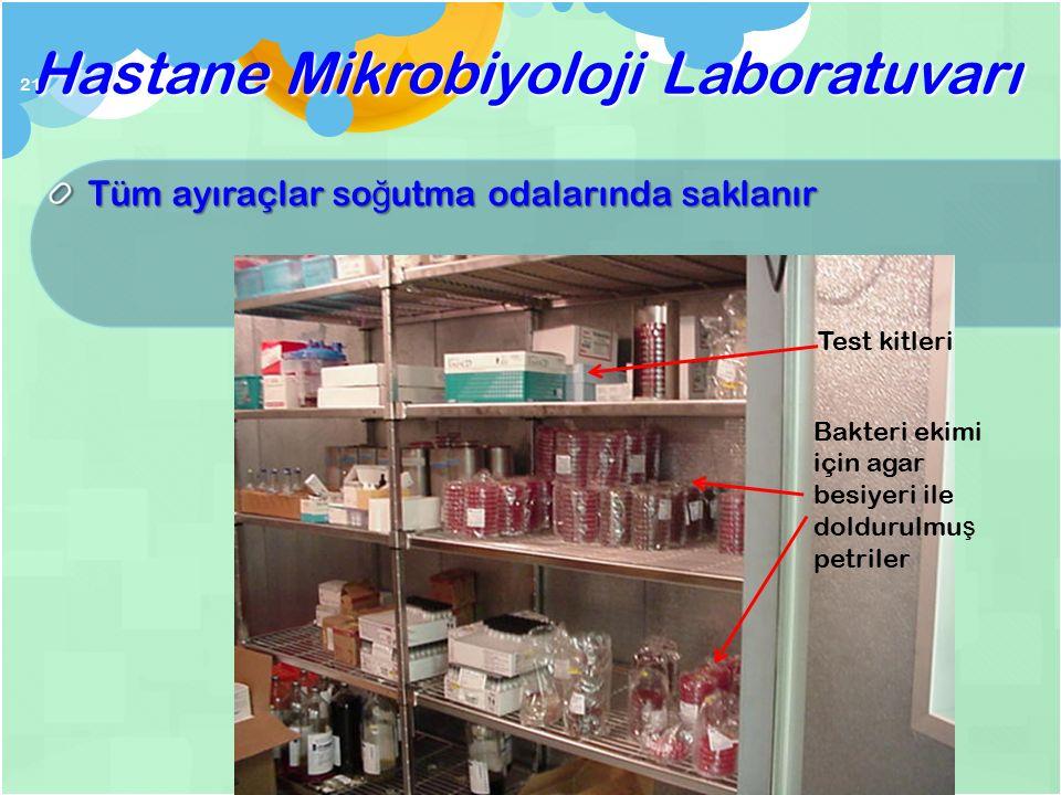 Hastane Mikrobiyoloji Laboratuvarı 20 etüv