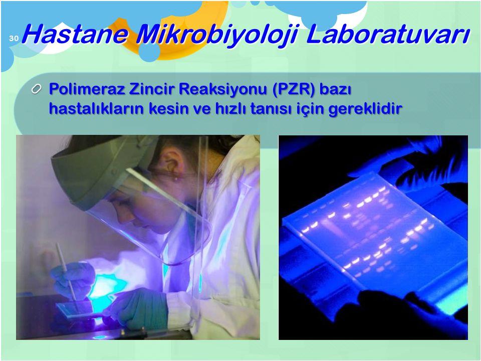 Mikroorganizmaların tanısını kolayla ş tırmak için seroloji kullanılır Hastane Mikrobiyoloji Laboratuvarı etüv ELISA pla ğ ı 29 Aglütinasyon test kiti