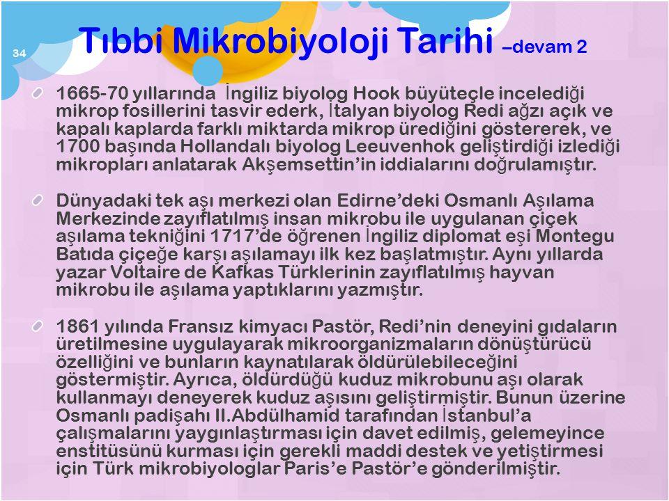 Tıbbi Mikrobiyoloji Tarihi –devam 1 900'lerin ba ş ında Ba ğ datlı Abbasi biyolog-filozof ve hekim Razi'nin yazdı ğ ı Havi isimli tıp kitabı,, ayrıca,
