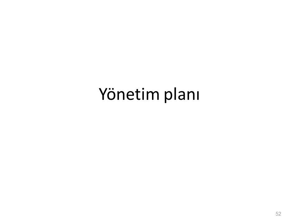 Yönetim planı 52