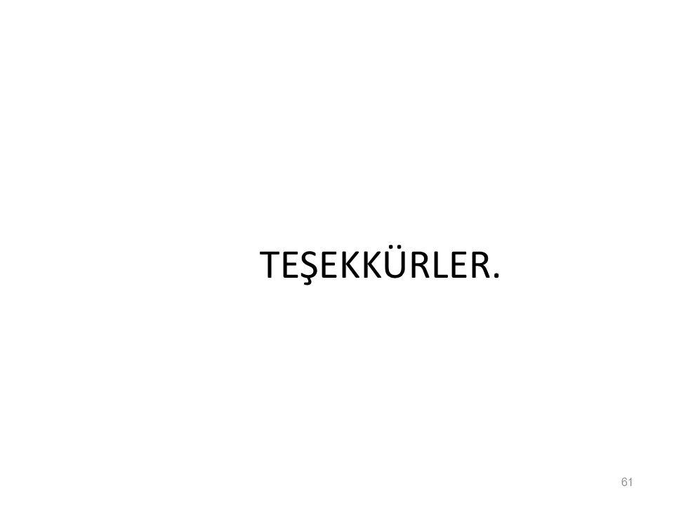 TEŞEKKÜRLER. 61