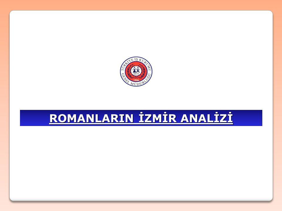 İZMİR'de Yaşayan Romanlar  İzmir'de yaşayan Romanların genel olarak analizini yaptığımızda;  İzmir ilinde yaklaşık 300.000 civarında Roman yaşamaktadır  Yaşanan mahalleler son derece yoksul ve eğitimsizdir.
