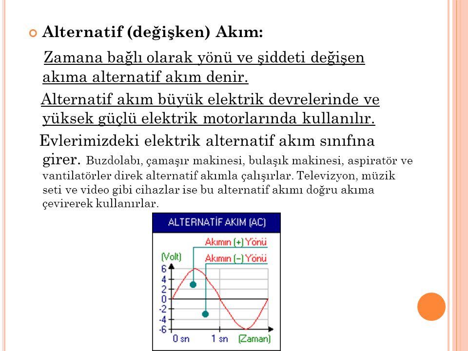 Ohm Kanunu: Bir elektrik devresinde; Akım, Voltaj ve Direnç arasında bir bağlantı mevcuttur.