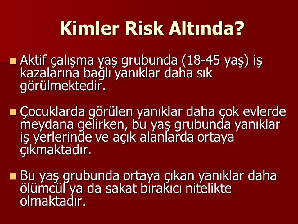 Yaşlı insanlar diğer bir risk grubunu oluşturmaktadır.
