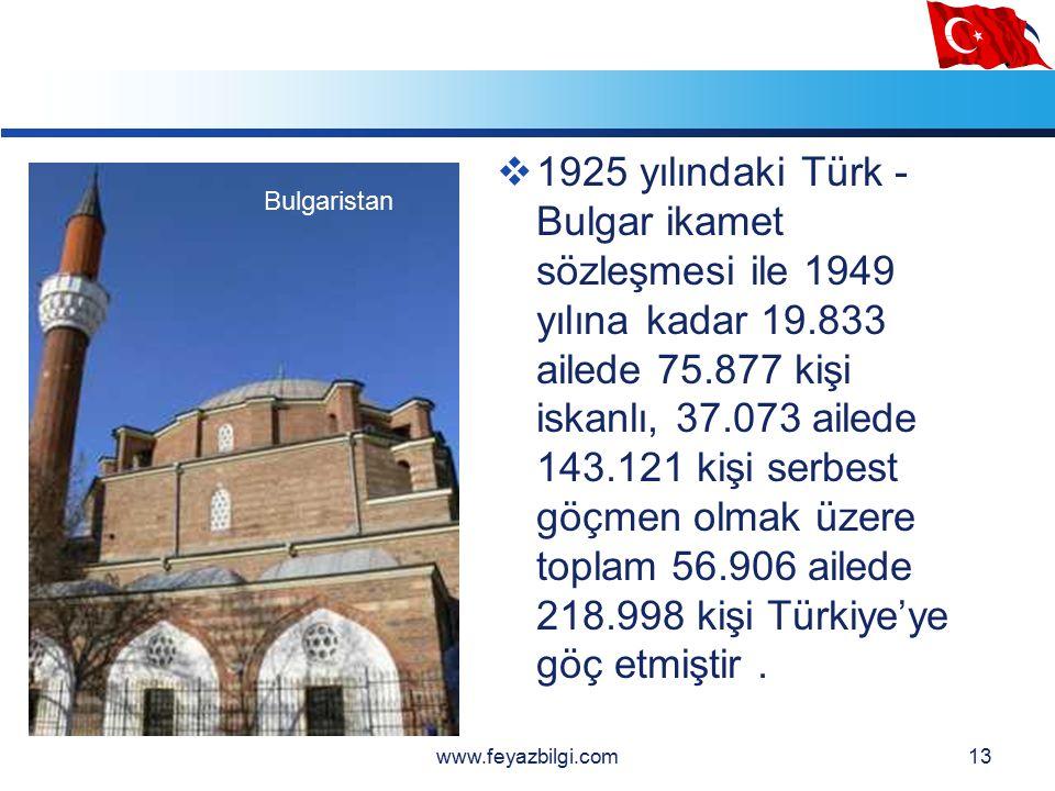 LOGO 12  BULGARİSTANDAN GÖÇLER  Cumhuriyetin kurulmasını izleyen yıllarda Anadolu'ya ikinci büyük göç dalgası Bulgaristan'dan gelmiştir.