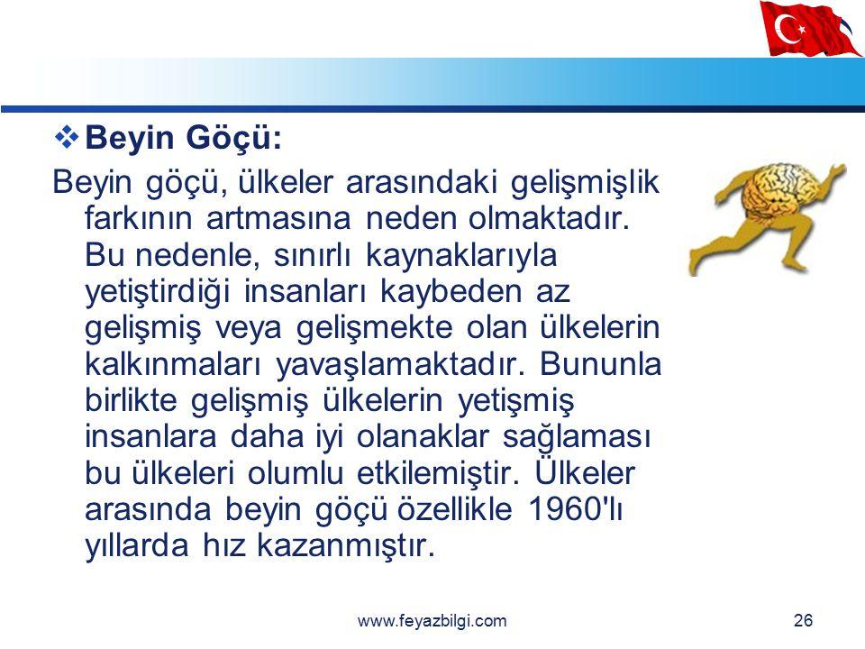 LOGO 25  TÜRKİYE'DEN GÖÇLER Türklerin Malazgirt Zaferi ile birlikte Anadolu'ya akın etmelerinden sonra Anadolu giderek Türkleşmiştir.
