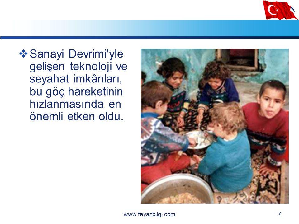 LOGO Türkiye'de Göçün Sebepleri ÇEKİCİ NEDENLER  Göç alan bölgelerdeki avantajlar  İş imkanları  Alt ve üst yapı(Eğitim-Sağlık) hizmetlerinin daha gelişmiş olması  Kültürel çekicilikler www.feyazbilgi.com37