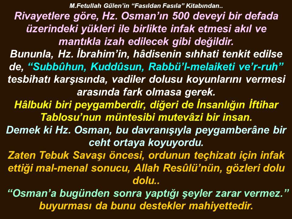 M.Fetullah Gülen'in Fasıldan Fasıla Kitabından..