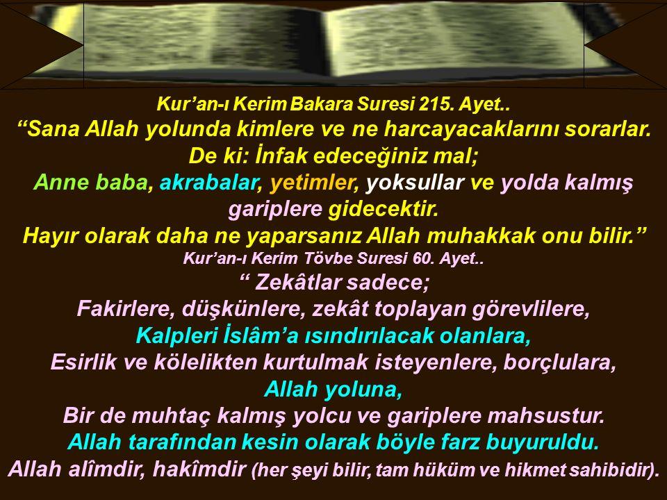 Kur'an-ı Kerim Bakara Suresi 215. Ayet..