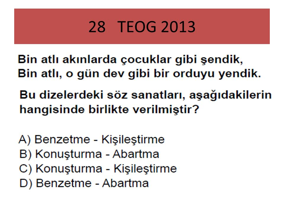 28 TEOG 2013