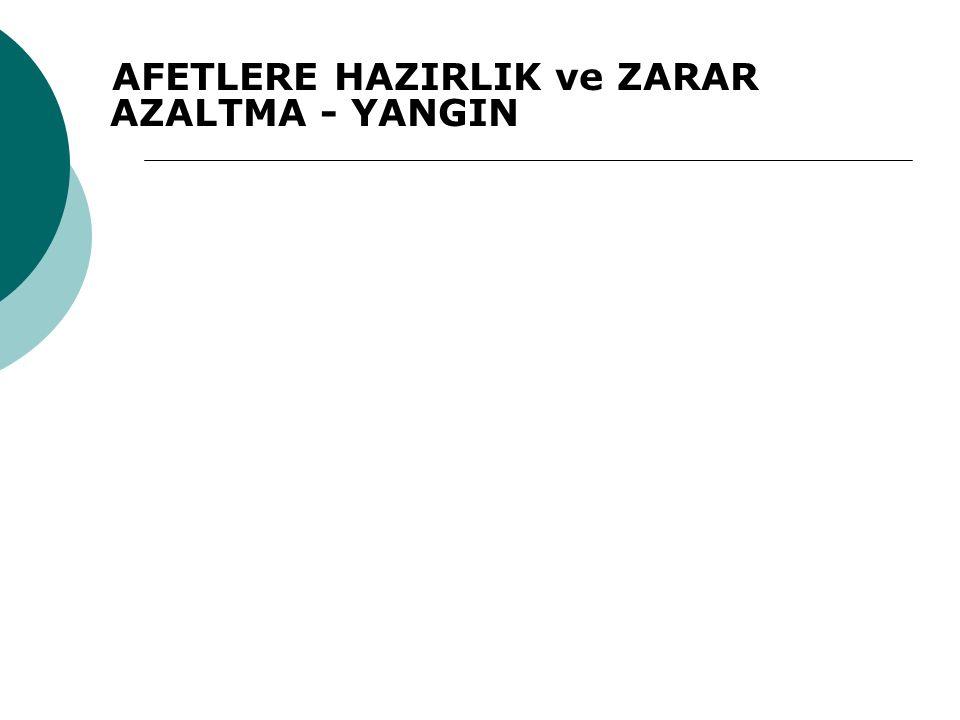 AFETLERE HAZIRLIK ve ZARAR AZALTMA - YANGIN