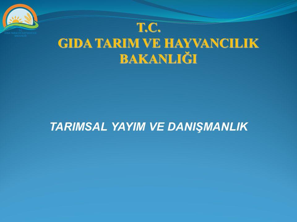 YAYIM KAVRAMI TARIMSAL YAYIM = AGRICULTURAL EXTENSION YAYIM = YAYIN X