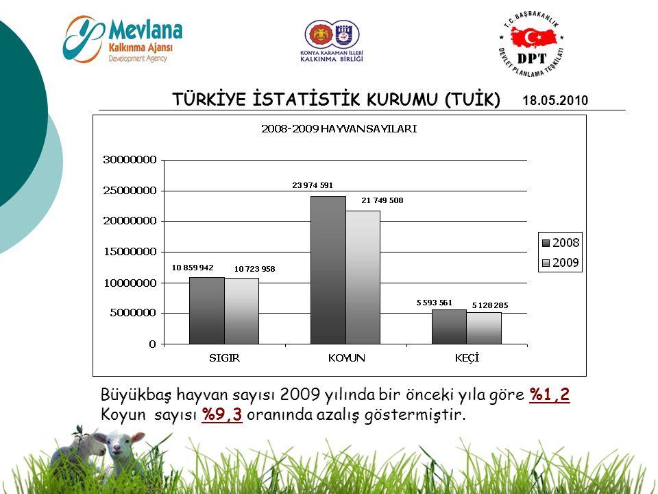 8 Ülke genelinde 20 yıl önce 43 milyon olan koyun sayısı, 21 milyona gerilemiş; 2 milyon koyunun bulunduğu Konya bölgesinde ise; koyun varlığı 1 milyona kadar düşmüştür.