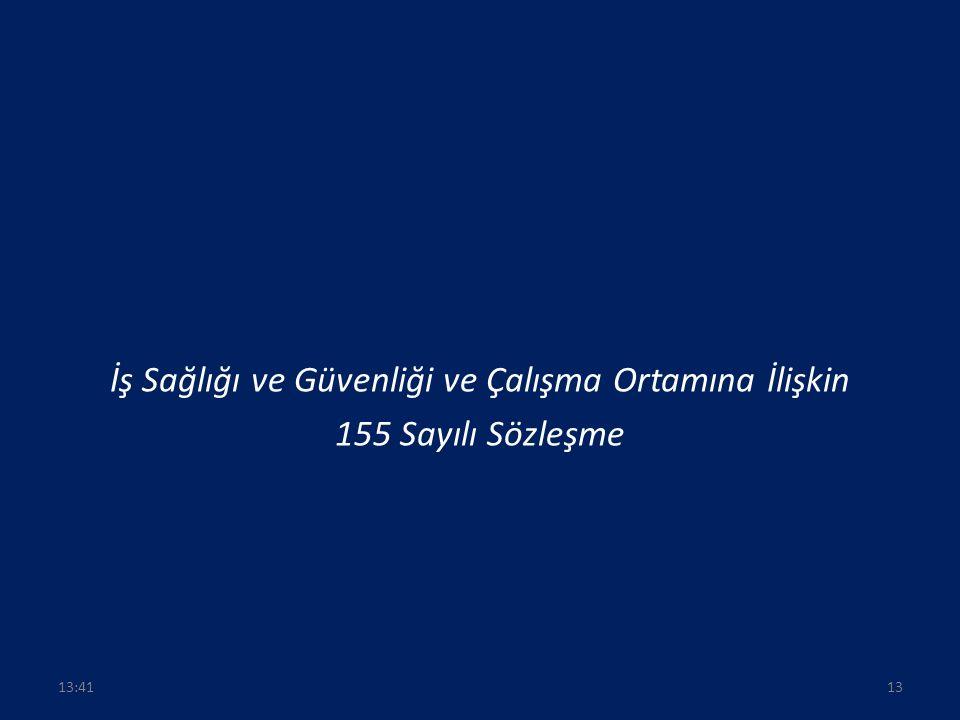 İş Sağlığı ve Güvenliği ve Çalışma Ortamına İlişkin 155 Sayılı Sözleşme 1313:43