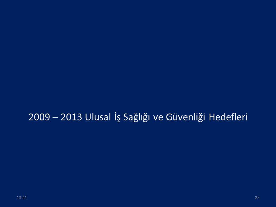 2009 – 2013 Ulusal İş Sağlığı ve Güvenliği Hedefleri 2313:43