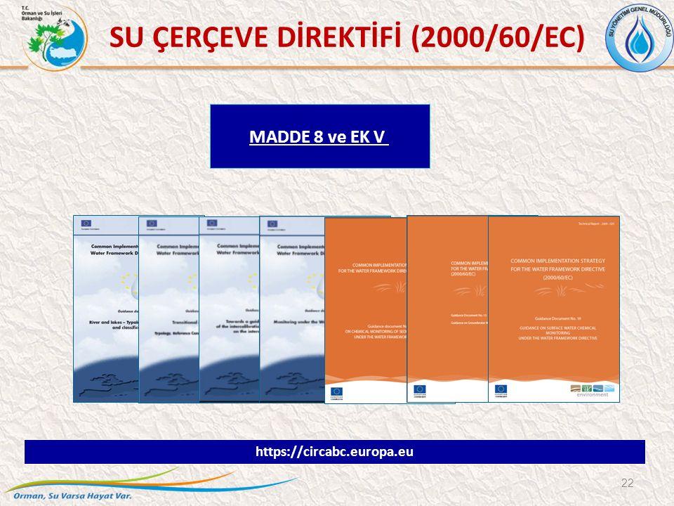 22 MADDE 8 ve EK V https://circabc.europa.eu SU ÇERÇEVE DİREKTİFİ (2000/60/EC)