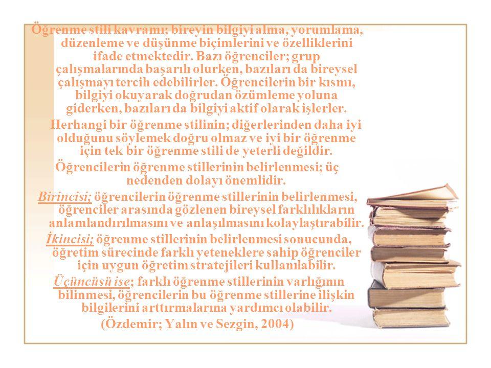 Öğrenme stili kavramı; bireyin bilgiyi alma, yorumlama, düzenleme ve düşünme biçimlerini ve özelliklerini ifade etmektedir.