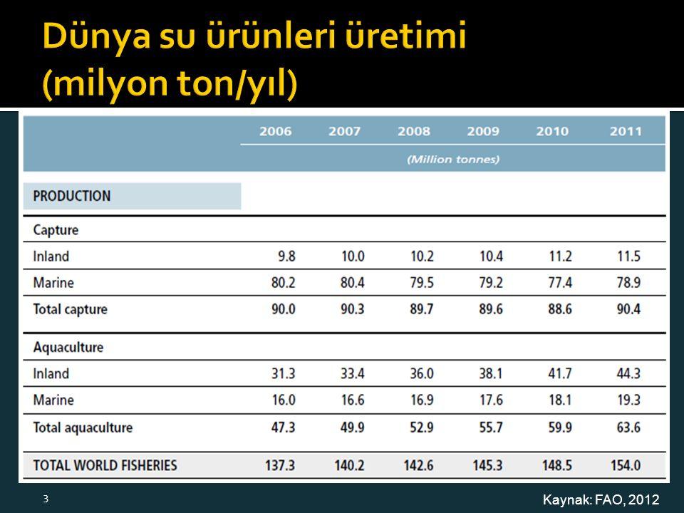 Kaynak: FAO, 2012 3