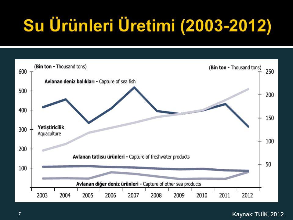 Kaynak: TUİK, 2012 7