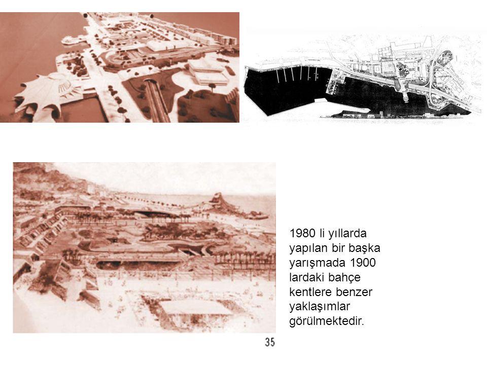 1980 li yıllarda yapılan bir başka yarışmada 1900 lardaki bahçe kentlere benzer yaklaşımlar görülmektedir.