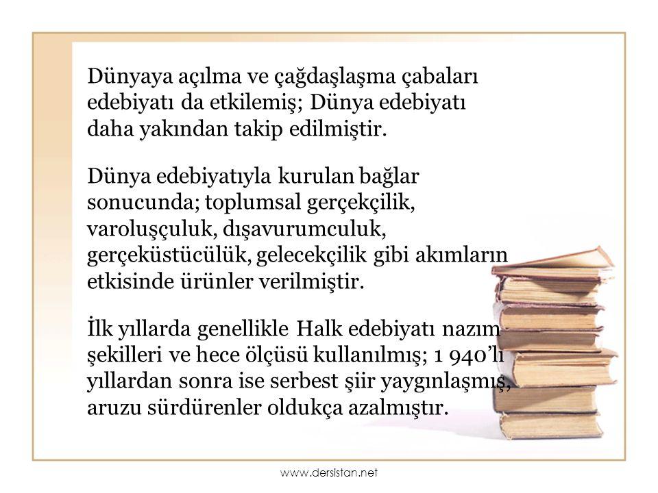 ESERLERİ: Şiir: Bütün Şiirleri Romanları: Mahur Beste, Saatleri Ayarlama Enstitüsü, Huzur, Sahnenin Dışındakiler, Aynadaki Kadın.