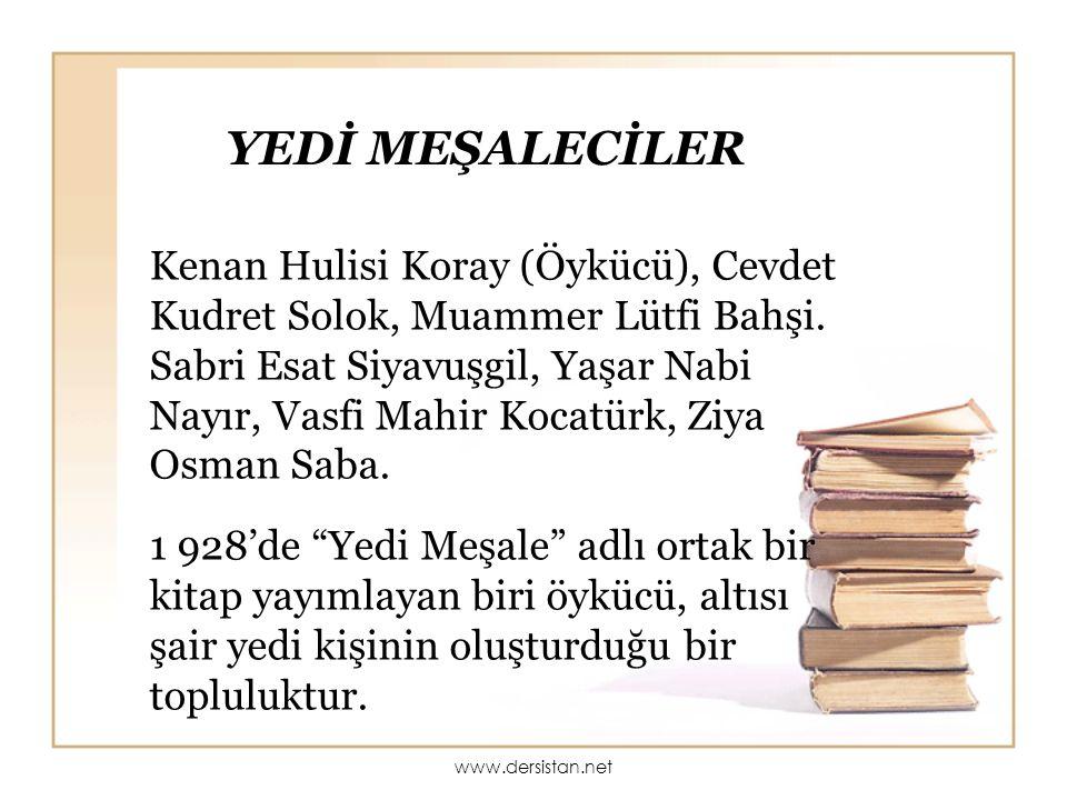 AHMET KUTSİ TECER (1901 — 1967) Neredesin? şiiriyle tanınmış ve sevilmiştir.