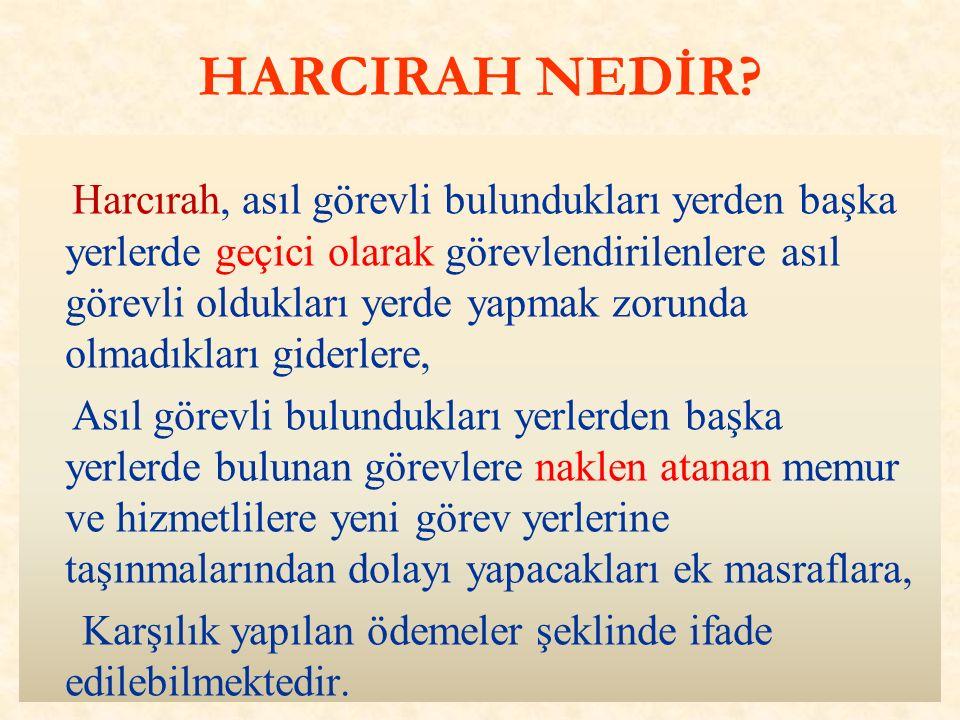 HARCIRAH NEDİR.