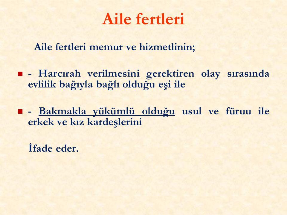 Örnek 2- Şarköy İlçe merkezinde görev yapan ve ikametgahı da Mürefte mahallesinde olan memura; ikametgahının olduğu Mürefte Mahallesinde görevlendirilmesi halinde harcırah ödenmeyecek, Hoşköy Mahallesinde görevlendirilmesi halinde harcırah ödenecektir.